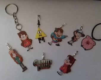 Gravity Falls Necklaces and Keychains - DS Charm - Silver Necklace - Tattoo Necklace - Keychains - Brooch - Movile Strap - Choker - Lanyard