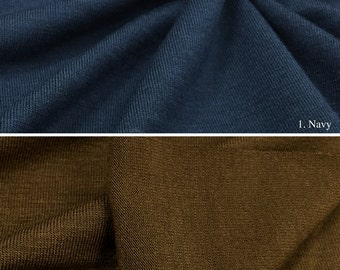 Jersey Knit Fabric With Spandex (Wholesale Price Available By The Bolt) USA Made Premium Quality - 3083G - 1 Yard