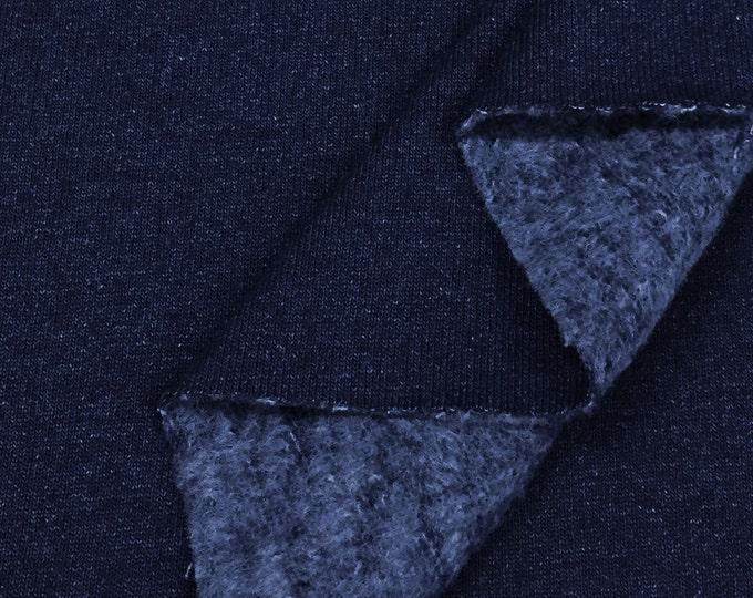 100% Indigo Yarn Dyed Cotton Fleece Fabric