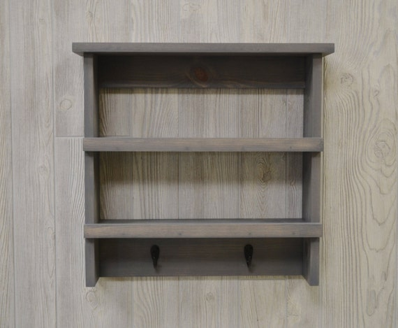 Decorative Wall Shelf For Kitchen : Rustic kitchen wood shelf wall farmhouse decor
