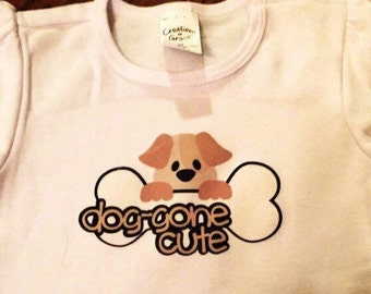 Doggone Cute Children's Tee - Baby Onesie - Puppy T-Shirt for Children