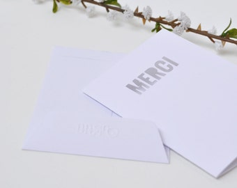 Card thanks - small cut words