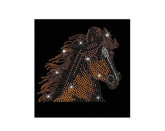 Bling Crystal Running Horse Horseshoe Zebra animal Rhinestone Iron on Transfer Appliques  Cat Elephant Hotfix Pattern for Clothes