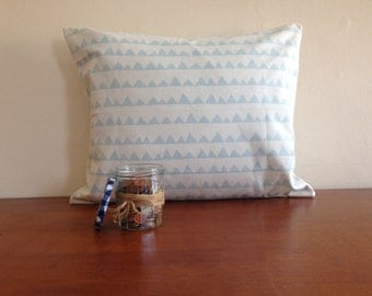 Blue Triangle Cushion cover, pillow case