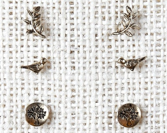 At Home In The Country Earrings - Bronze