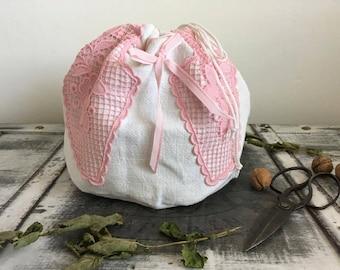 Natural linen bread bag  linen bread basket raw linen bag bread loaf bag, Ecofriendly bag, Picnic basket Bread keeper Storage bags