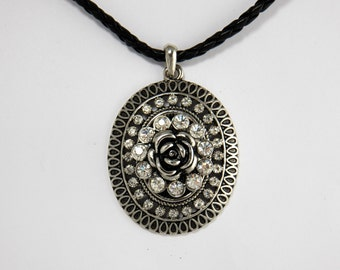 Large Statement Flower Pendant