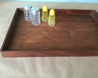 Vintage Rustic Wooden Tray. Kitchen Tray.