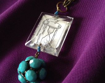 Vintage Chandelier Prism Necklace, Hourglass