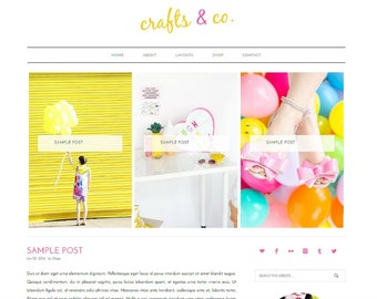 WordPress Blog, WordPress Template, WordPress Theme, Colorful WordPress, WordPress Website, WordPress Mobile Responsive, Genesis Child Theme