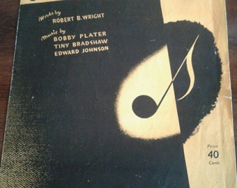 Vintage Sheet Music for 'Jersey Bounce'..