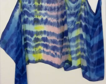 silk scarf 'tie and dye'