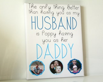 Personalised canvas picture print dad keepsake husband daddy