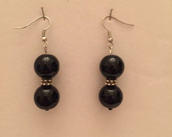 Basic Black Drop Earrings
