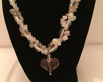 Twisted Heart Beaded Necklace