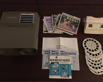Vintage 1960s View-Master Bundle with Viewer, Projector, and Reels