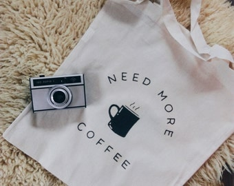 Cotton canvas tote bag all you need is coffee