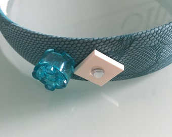 Lego blue headband with applications