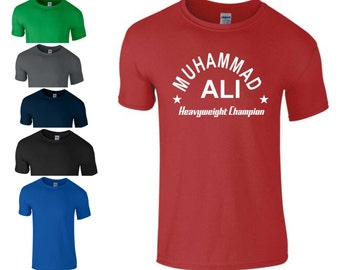 Muhammad Ali T Shirt - CASSIUS CLAY Boxing Legend Tribute Summer Gift Tee S - 5XL Different Colors