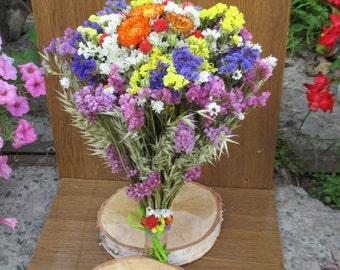 Dried flower bridal bouquet,Bridal bouquet,Wedding bouquet,Rustic wedding, Wild flower bouquet,dried flowers, dried flower arrangement