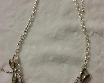 Silver Butterfly necklace set