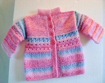 Rosé Cardigan jacket girl baby toddler pink