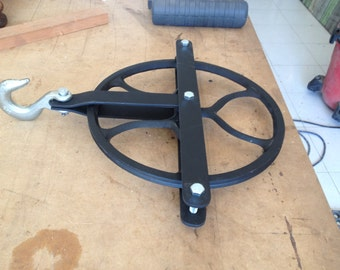 Beautiful Industrial all iron pulley.