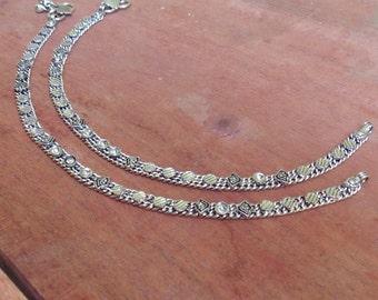 Barefoot anklets | Oxidized silver anklets | Banjara Anklet | Indian payal anklet | boho gypsy fashion anklets | Girls fashion jewelry | A40