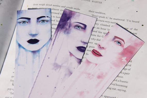 Three Water Paint Bookmarks