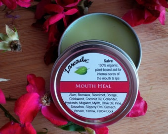 Mouth Heal//Plant-based Oral Mouth Aid//Canker Sores//Mouth Ulcers//Organic Mouth Healing//Lip and Gum Sores//Oral Healing