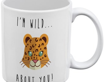 Im Wild About You Tiger White All Over Coffee Mug