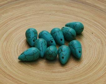 Simply Beautiful Howlite Drops-Ten Pieces