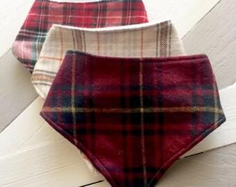 Flannel bandana baby bibs