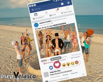 Framework of Facebook totally custom (file Digital) Facebook Coroplast