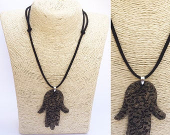 Necklace hand of Fatima (Leopard)