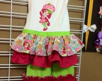 Strawberry Shortcake Shirt w/ Ruffles and Ruffled Pants