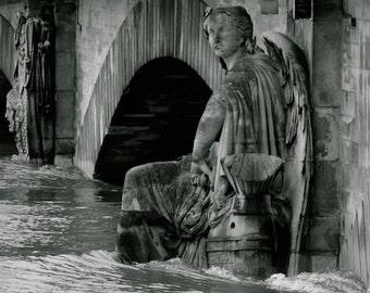 "Paris Photography, Flooding 2016, Large Wall Art Print, Fine Art Photography, 20 cm x 30 cm, 8"" x 12"""