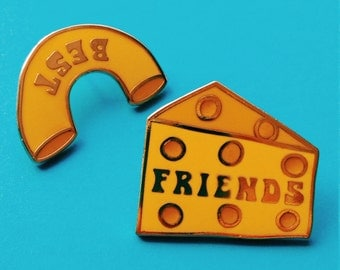 "Mac & Cheese Best Friend 1"" Hard Enamel Pin"