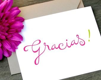 Gracias, Gracias Thank You Cards, Gracias Card, Thank You Cards, Thank You Stationery, Thank You Card Set, Gracias Targetas, Spanish Card