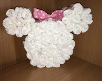 Minnie Mouse Diaper Head