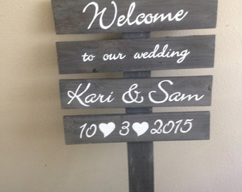 Wedding sign. Event sign. Wood. Rustic.