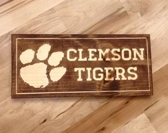 Clemson Tigers Wall and Desk Art