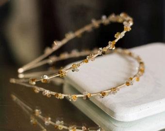 Double headband, Swarovski headband, bridal headpiece, jewelry headband, crystal headband , crystal headpiece, hair accessories,  tiara