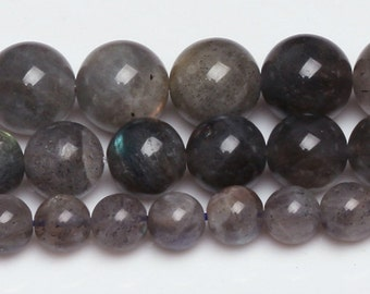 Natural Labradorite, Natural Stone Beads, Labradorite Beads, Round Beads, Semi Precious, Gemstone Beads, 4 6 8 10 mm, (CB015)