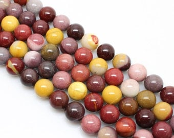 Natural Mookaite Beads, Round  Beads, Mookaite Beads, 6 8 10 12mm, (OB042)