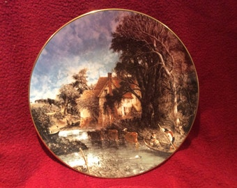 Crown Staffordshire John Constable Valley Farm Plate