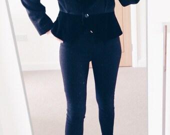 Vintage Ladies Black Blazer