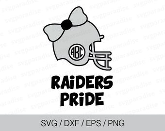 Football Raiders Team Svg, Football Helmet Svg, Svg, Eps, Dxf, Png use with Cricut & Silhouette