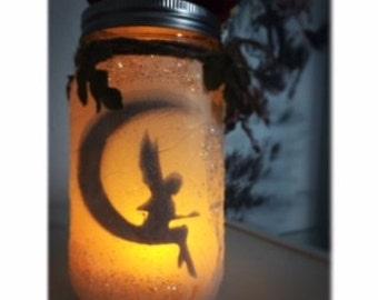 Fairy Mason Jar Lantern/ Night Light