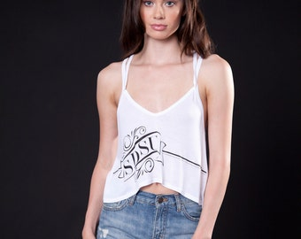 Double Strap Crop Top (C120101W-BANNER)